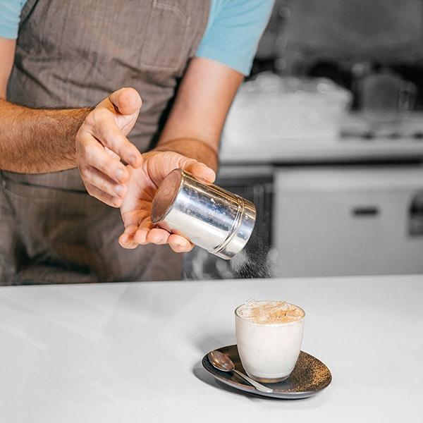 arkadia hot chai tea latte at a cafe