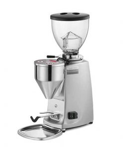 mazzer mini manual coffee grinder in silver