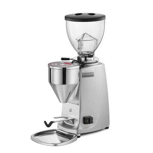 mazzer mini manual coffee grinder in silver