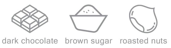 dark choc brown sugar roasted nuts coffee notes