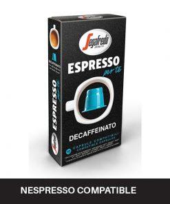 espresso per te decaffeinato coffee capsules