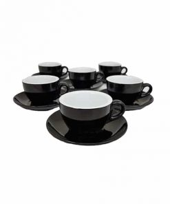 black cappuccino cups for cafes