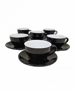thick black cappuccino cups