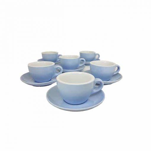 coloured cappuccino cups