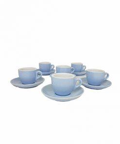 cafe espresso cups in blue