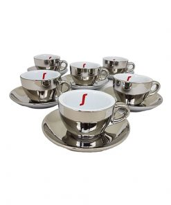 Baristapro Chrome Cappuccino Cups
