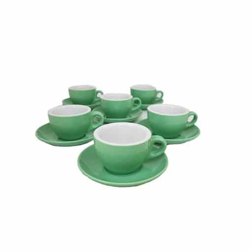cappuccino cups for cafes in green
