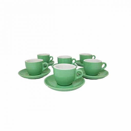 extra thick espresso cups in green