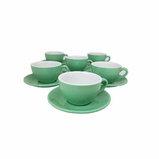 green cappuccino cups for cafes