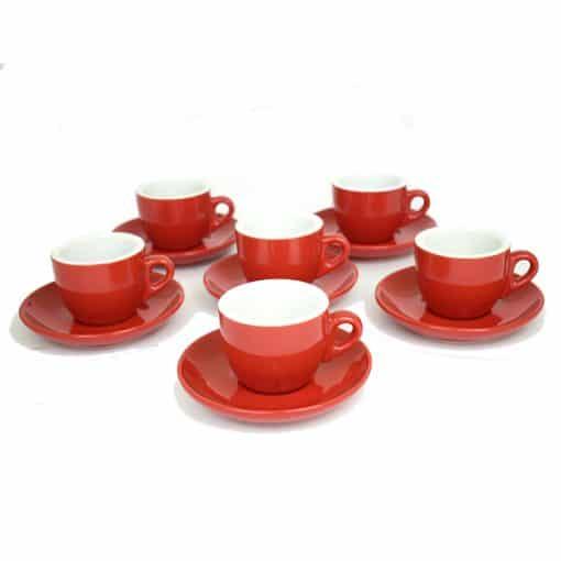 red cafe mugs