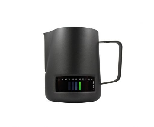 latte pro milk jug with thermometer
