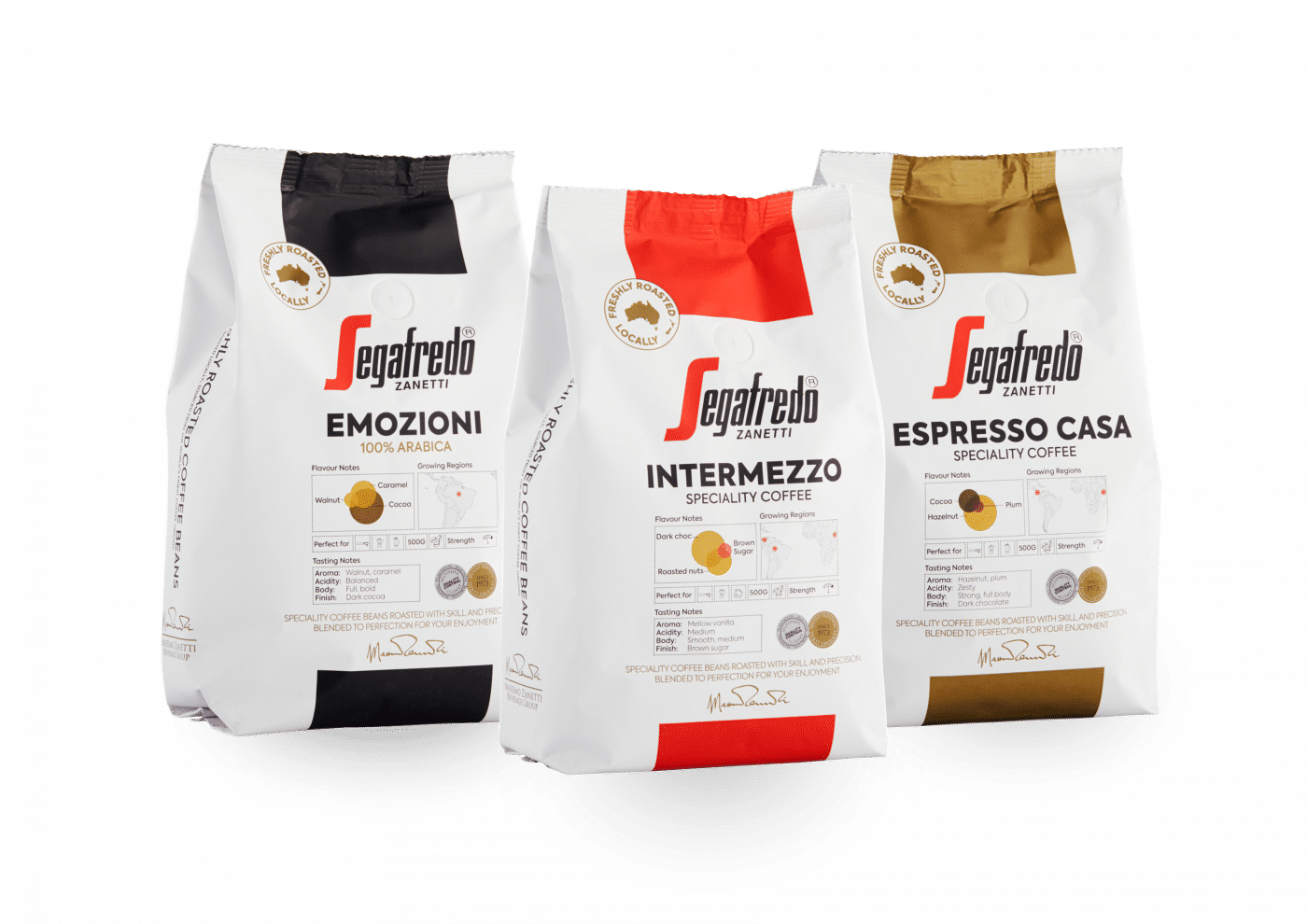 segafredo zanetti coffee bean range