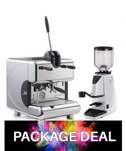 la san marco package deal with espresso machine and coffee grinder