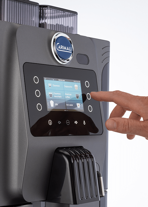 carimali touch screen coffee machine