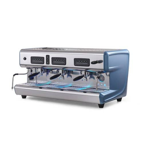 la san marco classic coffee machine with blue details