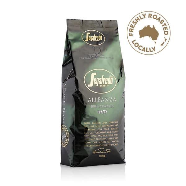 alleanza 100% arabica coffee beans from segafredo
