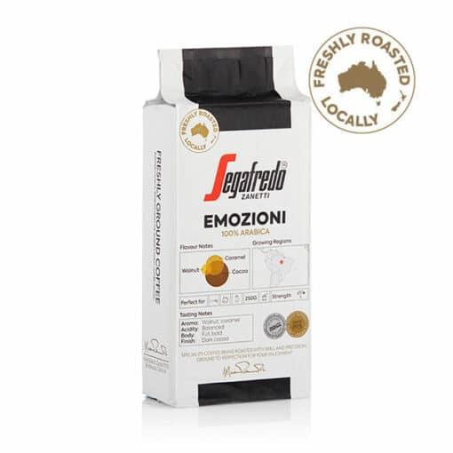 Emozioni 100% arabica beans ground coffee