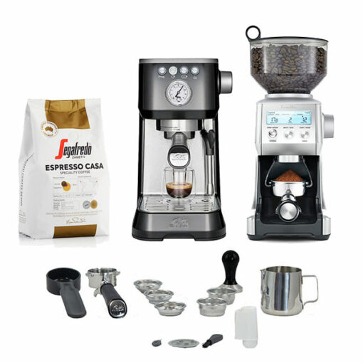 solis perfetta plus coffee machine package with grinder
